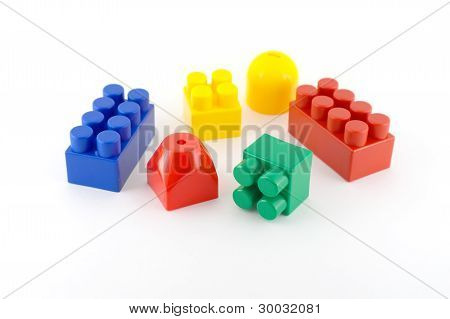 Color Components Of Child's Meccano