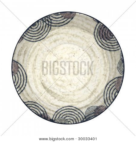 An image of a nice pottery plate