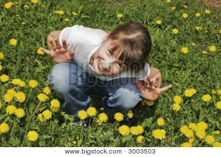 Girl On The Meadow