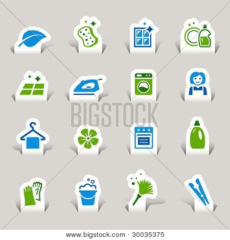 Paper Cut- Cleaning Icons