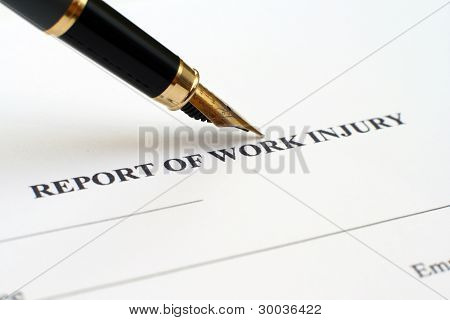 Report Of Work Injury