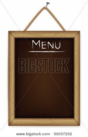 wooden menu board.vector