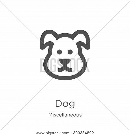 poster of Dog Icon Isolated On White Background From Miscellaneous Collection. Dog Icon Trendy And Modern Dog