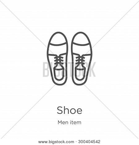 poster of Shoe Icon Isolated On White Background From Men Item Collection. Shoe Icon Trendy And Modern Shoe Sy