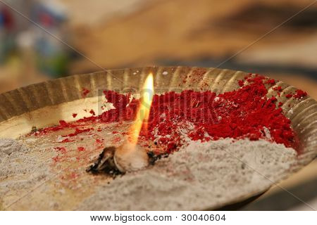 Indu burning lamp