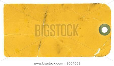 Blank Yellow Tag On White Background