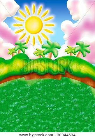 Beautiful Cartoon Landscape