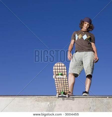 Skater At Halfpipe