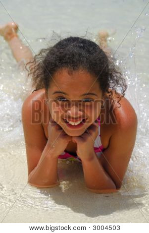 Chica feliz sonrisa