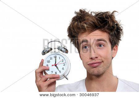 Man waking up at 5 o'clock