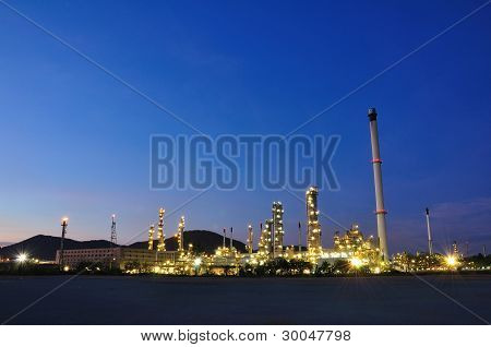 Petrochemical Plant On Twilight