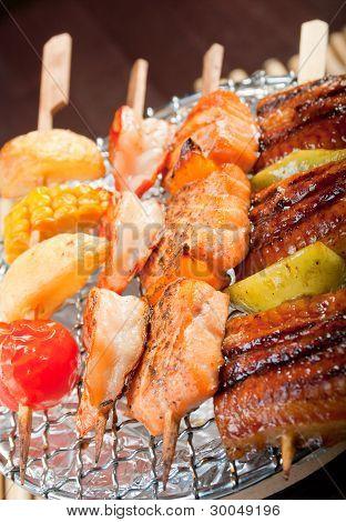 Japanese Skewered  Seafoods
