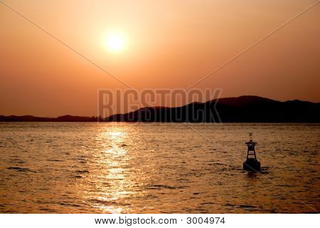 Sunset Off The Islands Of Inchon.