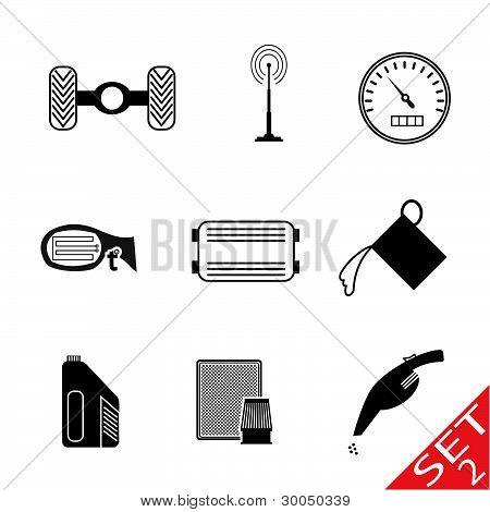 Car Parts icon set 2