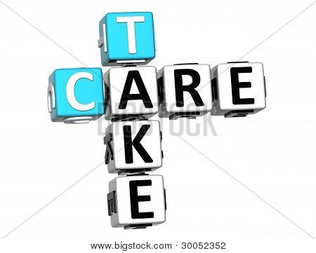 3D Take Care Crossword