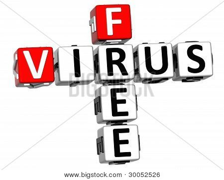 3D Virus Free Crossword