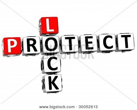 3D Protect Lock Crossword