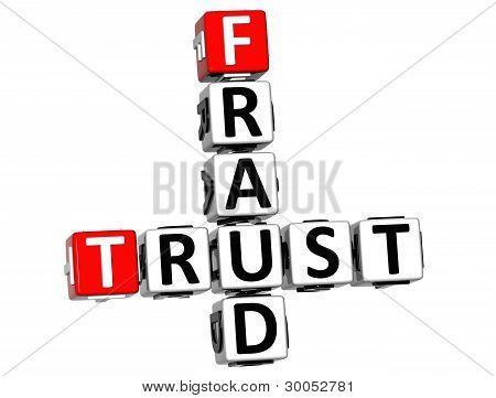 3D Trust Fraud Crossword
