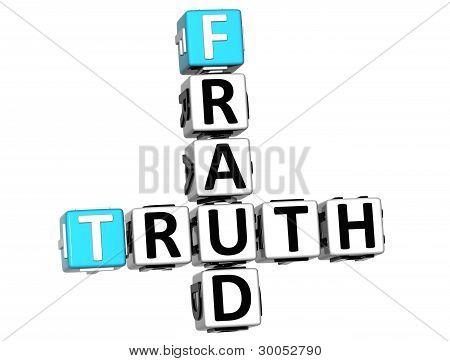 3D Wahrheit betrug Kreuzworträtsel