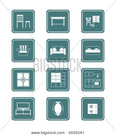 Home Furniture Icon-Set