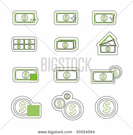 Money icon duoton