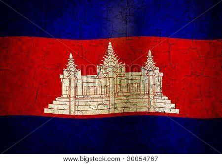 Bandera de Camboya Grunge