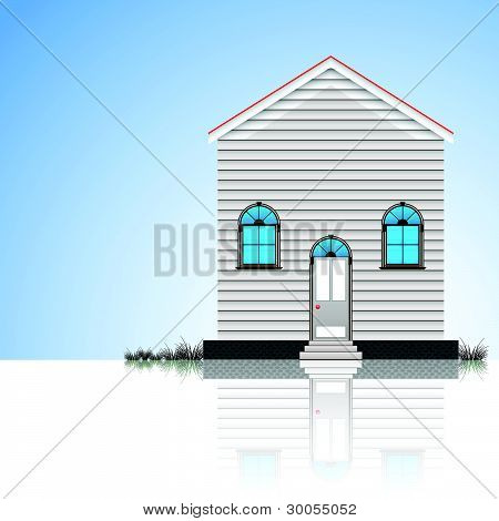 Modern House And Blue Sky