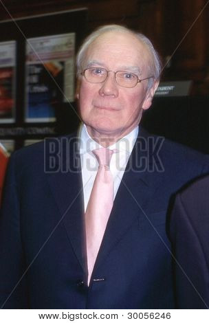 LONDON - FEBRUARY 23: Sir Menzies Campbell, Liberal Democrat party Member of Parliament for Fife North East, attends a party leadership debate on February 23, 2006 in London. He became Leader in 2006.