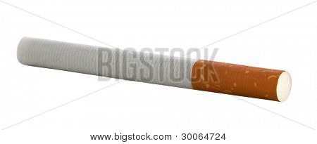 Cigarette isolated a white background