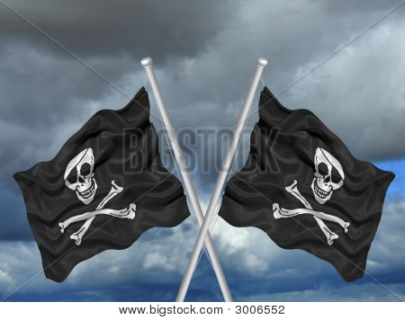 Crossed Pirate Flags