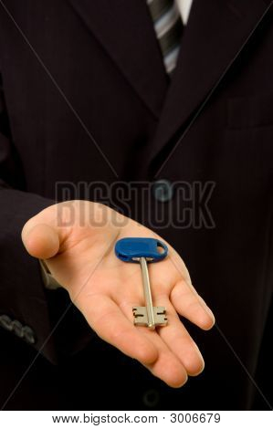 Businessman Is Giving You A Key