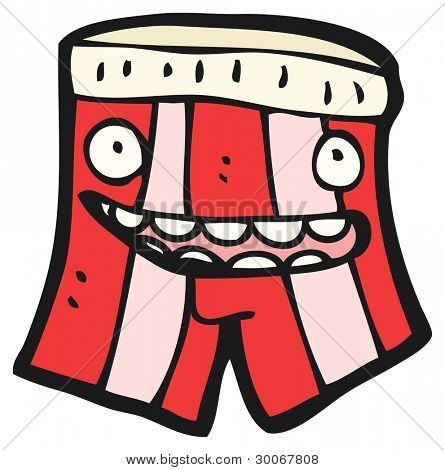 cartoon underpants character (raster version)