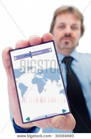 Businessman With Smart Gadget