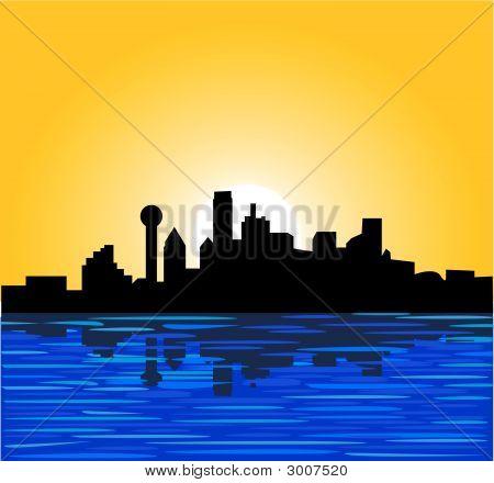 Dallas cielo línea sol