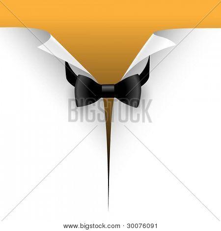 Ilustração do papel cortado com uma gravata. Vector.