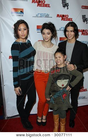 LOS ANGELES - FEB 15:  Fivel & Booboo Stewart arrives at the