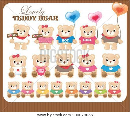 Lovely teddy bears collection