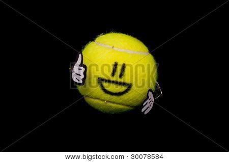 Cute Ball Shows The Thumb