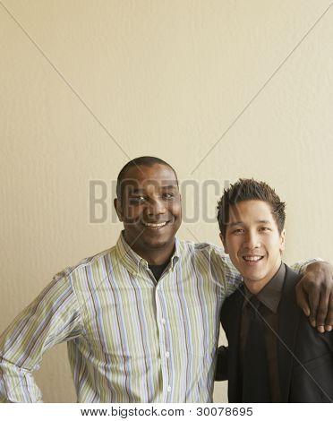 Portrait of businessmen smiling