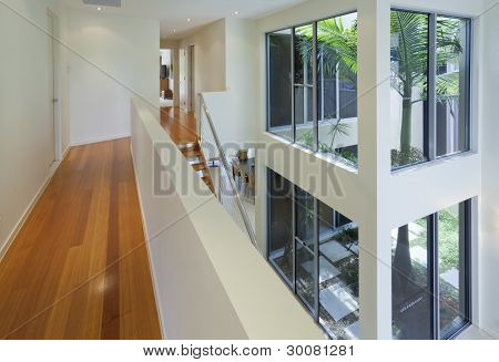 Interior View Of Modern Multi Level House