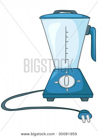 Cartoon Home Kitchen Blender Isolated on White Background. Vector.
