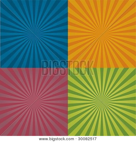 Radial Background Pattern