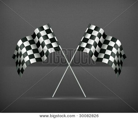 Racing flags, vector