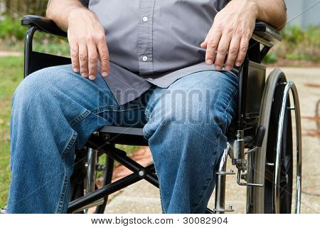 Paraplegic In Wheelchair