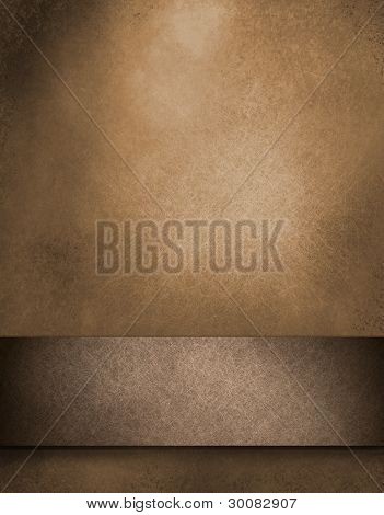 Brown Background With Ribbon
