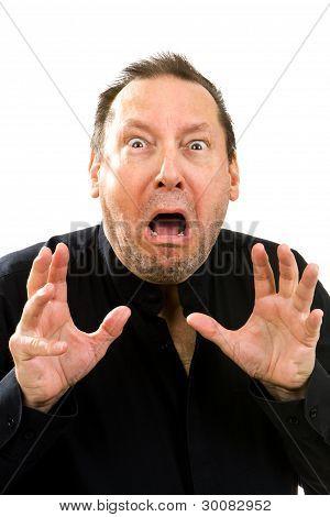 Shocked Fearful Man