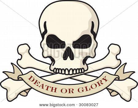 Death or Glory Skull Symbol