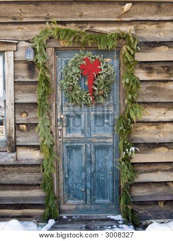 Christmas At A Log Cabin