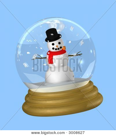 Snowman In Snowglobe
