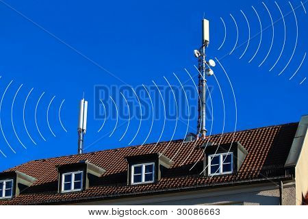 Mobile Phones Antennas With Circles